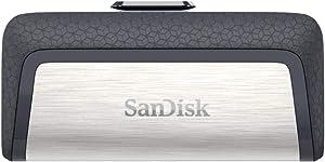 SanDisk 256GB Ultra Dual Drive USB Type-C - USB-C, USB 3.1 - SDDDC2-256G-G46