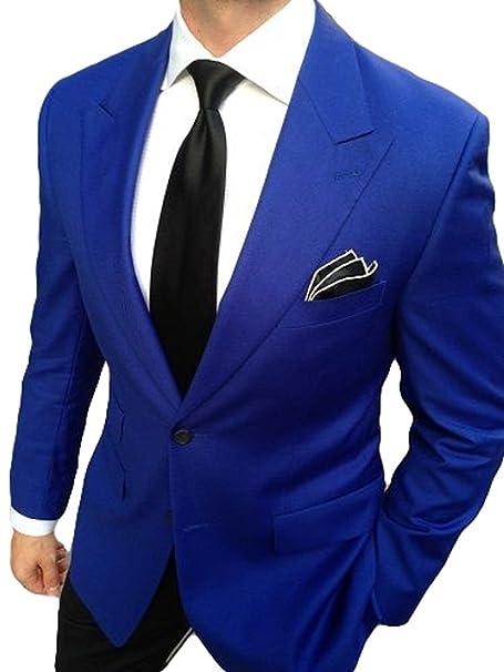 AK Beauty Mens 2 Piece Suits Business Formal Suit Wedding ...
