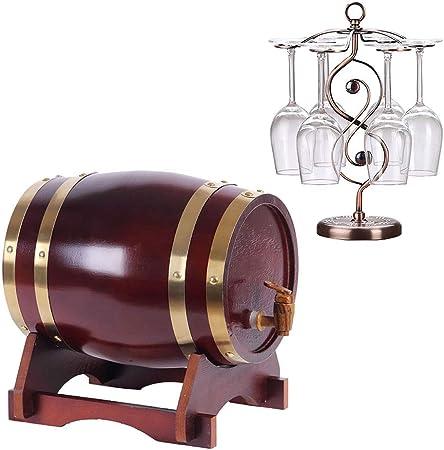 Opinión sobre SS mutong Barril de Roble Roble de Almacenamiento de Barril Forro de Papel de Aluminio Incorporado, for Almacenamiento de Ron de Whisky de Vino Vino, Cerveza, Sidra, Whisky. (Color : D, Size : 20L)