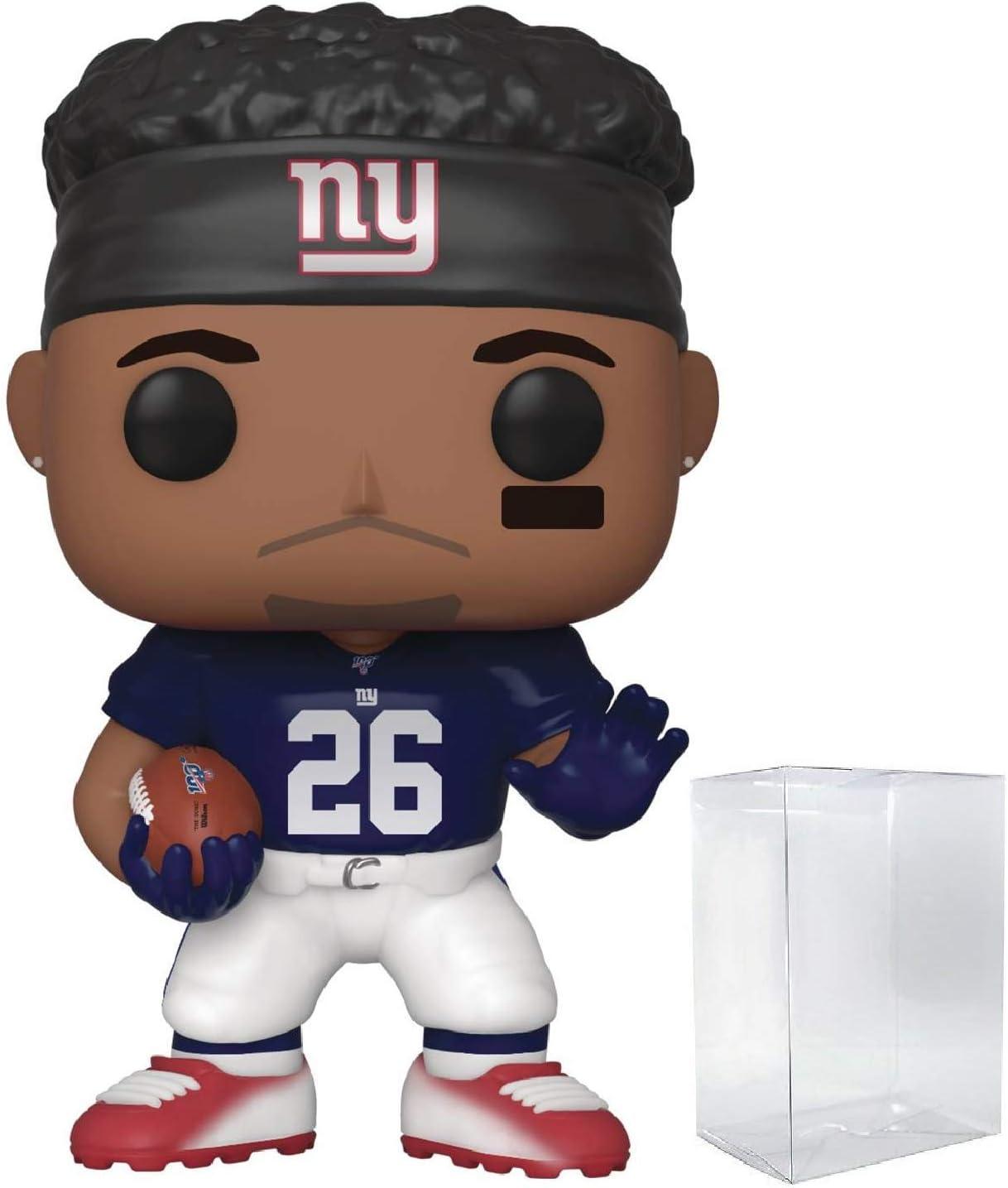 Pop NFL: New York Giants - Saquon Barkley (Home Jersey) Pop! Vinyl Figure (Includes Compatible Pop Box Protector Case)