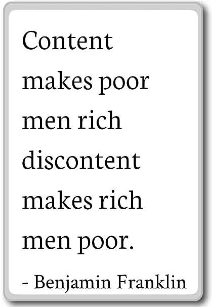Amazoncom Content Makes Poor Men Rich Discontent Ma Benjamin