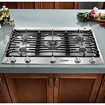 Dacor Distinctive DCT365SNG 36 Gas Cooktop 5 Sealed Burners, NG