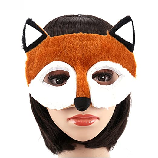 Costume Mask Masquerade - Cute Animal Cosplay Mask Half Face Masquerade  Costume for Kids
