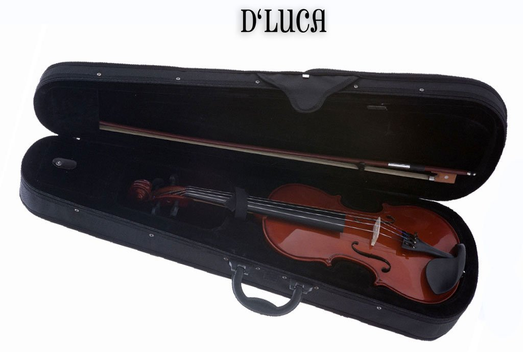 D'Luca DL-45018 Meister Ebony Fitted Beginner Violin Outfit 1/8