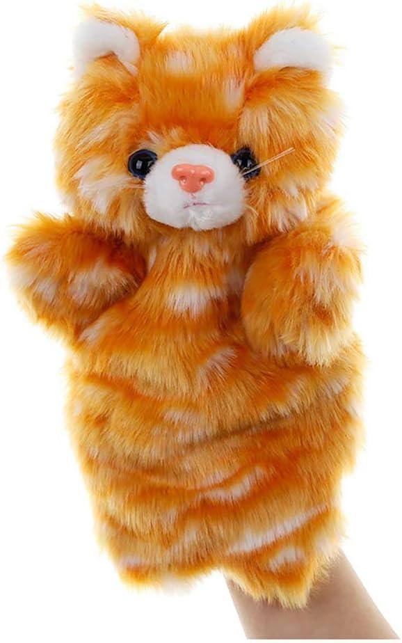 Marionetas Familia Juguetes de peluche de gato - Juguete de peluche - Muñecos de mano juguetes de peluche - Juguete de simulación de peluche de animales, ideal para niños - 25 cm