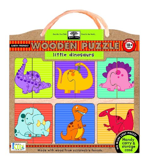 Little Wooden Doll (Green Start Wooden Puzzles: Little Dinosaurs -  Earth Friendly Puzzles with Handy Carry & Storage)