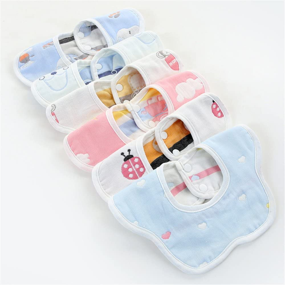 de algod/ón giratorio de 360 grados con leche espada impermeables toalla de saliva para beb/é de gasa para reci/én nacido Baberos de beb/é