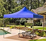 Gazebo Tent / Canopy Tent - 10 x 10 Feet / 3 x 3 Meter - Heavy Duty Portable Foldable Reusable Gazebo Canopy Display Advertising Tent Outdoor Garden shelter Car Parking Shed Camping Tent Gazebo for Lawn 2 Minute Installation (Blue Color)