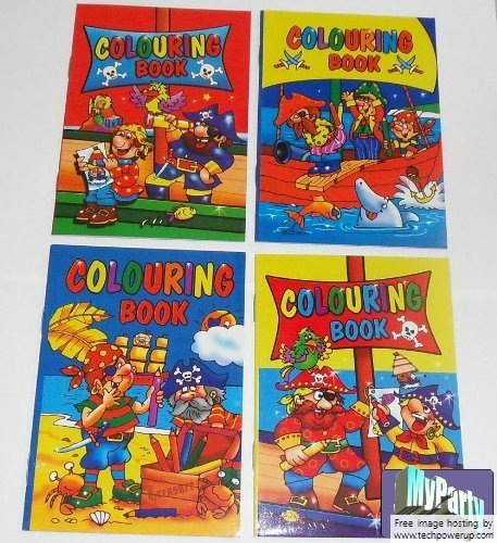 3X20 Mini Pirate Colouring Books A6 - 20 Girl or Boys Party Bag Fillers