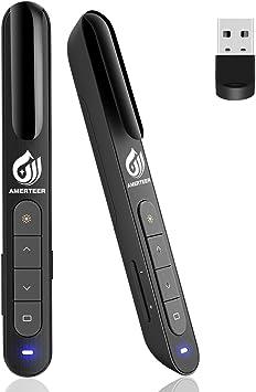 2 In 1 Wireless Presenter Powerpoint Laser Pointer Presentation Remote Pen New