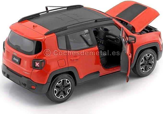 Welly Jeep Renegade Trailhawk Orange 0 Modellauto Fertigmodell 1 24 Spielzeug