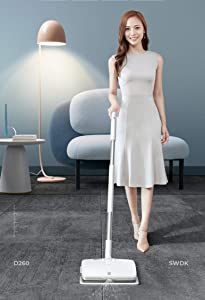 SWDK Electric Handheld Cordless Mop Floor Cleaning for Mopping All Surfaces Rechargeable, Rubbing Frequency Up to 1000 Times Per Minute D260 (Mop)