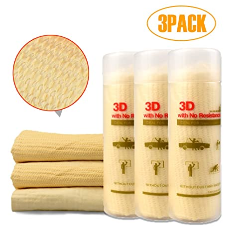 Sintético Gamuza de secado toalla Delam suave absorción de PVA Super Waffle Weave coche limpieza lavar