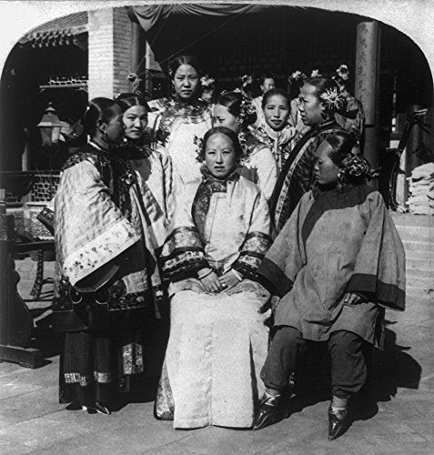 China 24 Na Chinese by Group Traditional Of In Peking A The Women Court C1902 China x Of Poster C1902 In Peking Print Stereograph Pekingese Mansion Dress 18 FwEnfqFr