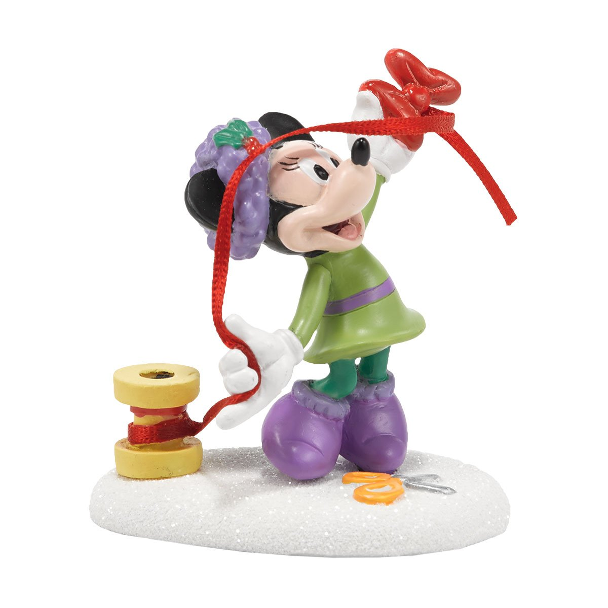 Department 56 Disney Village Minnie's Finishing Touch Accessory, 2.5 inch