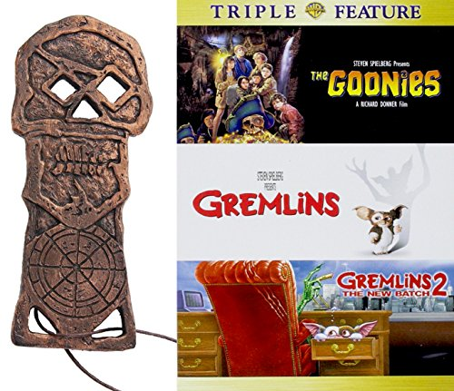 One Eye Willy Goonies Cooperbones Edition & Gremlins 3-Movie Bundle Skeleton Key Replica adventure action Family Fun features (Land Twin Basketball)