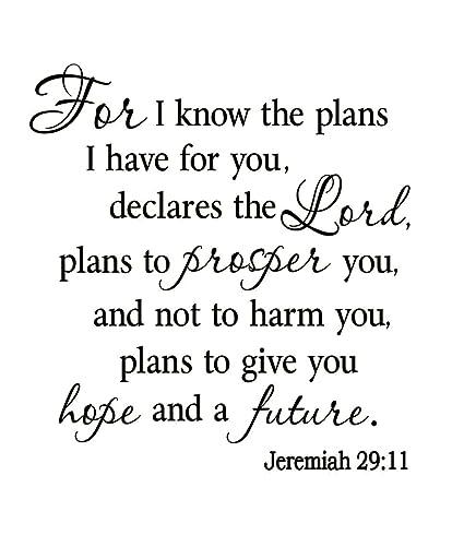 Amazoncom Vwaq Vwaq 1926b Know The Plans I Have For You Jeremiah