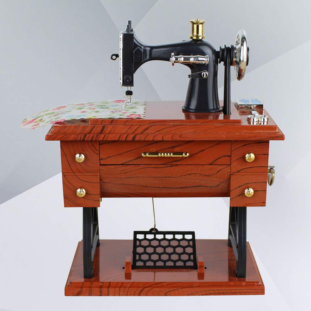 BESPORTBLE Sartorius Music Box Creative Gift Vintage Sewing Machine Musical Toy Music Box for Christmas Wedding
