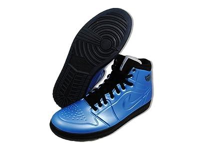 pretty nice 341b0 07447 Nike Air Jordan AJ 1 Retro Anodized University Blue Black-White Mens Shoes  414823