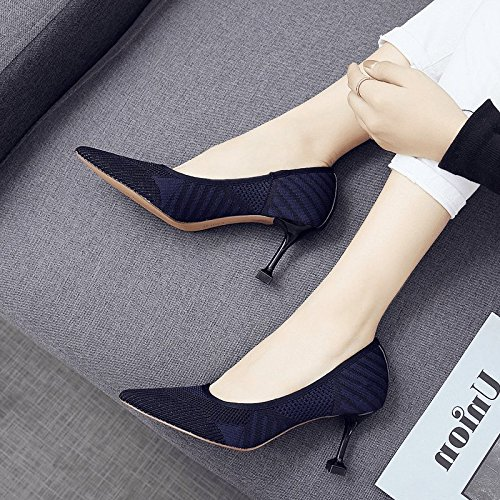 Et Girl Mince Zhudj Chaussures De En Automne Talon Cat Black qRYxAaY
