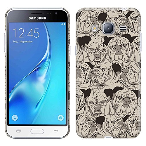Samsung Galaxy J3 J310 J320 Amp Prime Express Prime Sol J321 Galaxy J3 V Galaxy Sky S320 Case, Fincibo (TM) Back Cover Hard Plastic Protector, Bulldog (Armor Express Bulldog compare prices)