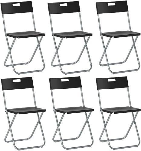 savino Felipe SRL 6 sillas silla Plegable negra IKEA gunde de ...
