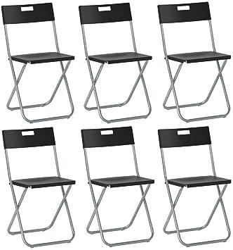 Savino Felipe SRL 6 sillas Silla Plegable Negra IKEA gunde ...
