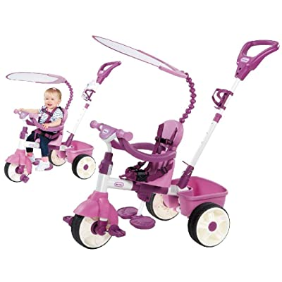 Little Tikes 4-in-1 Basic Edition Trike - Pink: Toys & Games