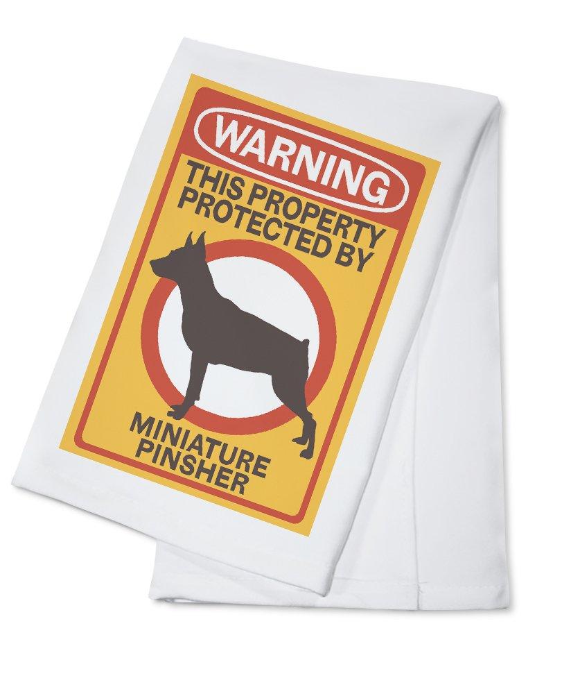 超美品 Miniature Pinscher – 警告 Canvas Tote Bag Towel Towel Bag LANT-85184-TT B079YF5H5M Cotton Towel Cotton Towel, イチカワチョウ:1ab42d26 --- arianechie.dominiotemporario.com
