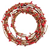 Resinta Red Pip Berry Garland Red Single Ply Pip Berry Garland for Christmas
