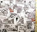 キャラクター生地・トムとジェリー(モノクロ)#5(キャラクター 生地 布 キャラクター生地 ピロル)