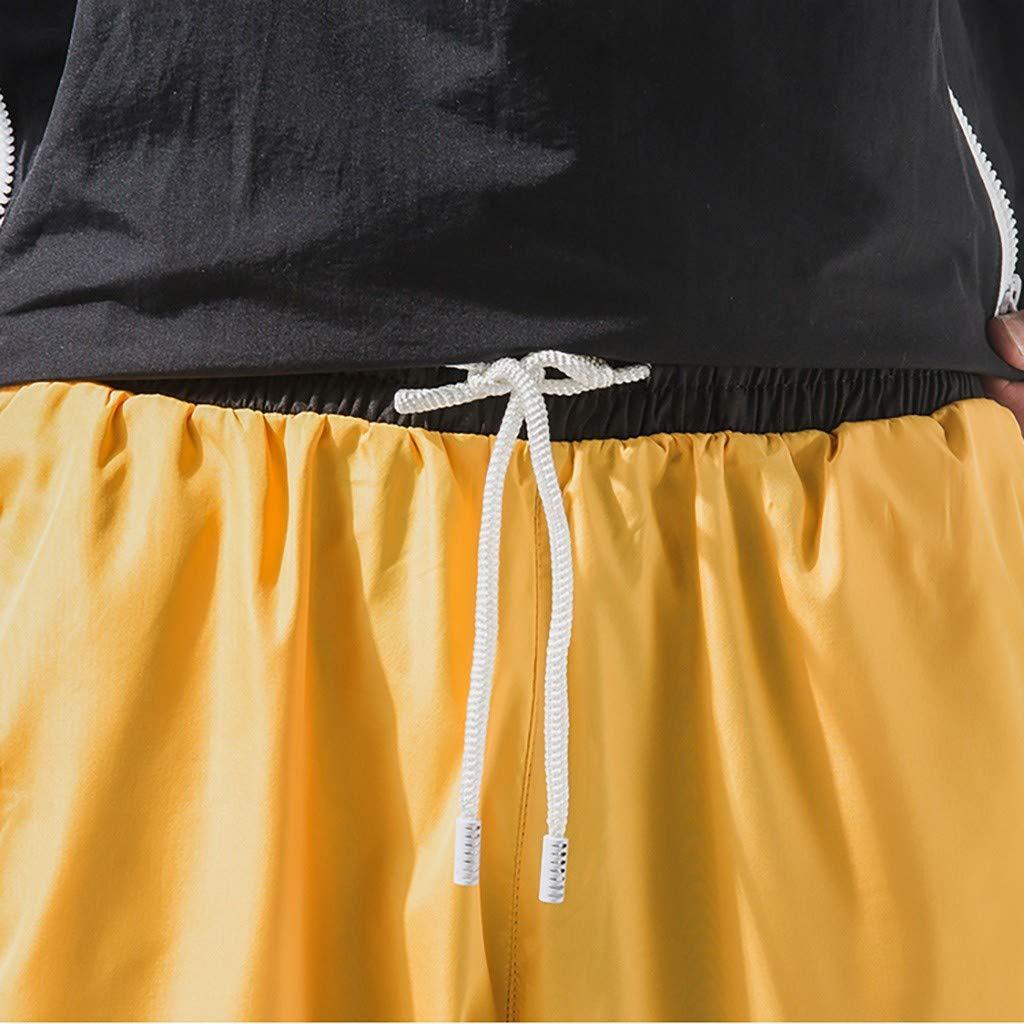 TTMall Pantaloni Tasconi Uomo,Pantaloni Uomo Estivi Pantaloni Larghi Uomo Pantaloni Uomo Lunghi Cargo con Coulisse Tasche Laterali Trousers della Pants Elastici Casual Maschi,S-XXXL