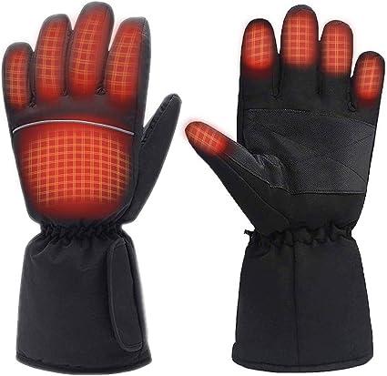 Beheizbare Touchscreen Winterhandschuhe,Ski,Wandern,Fahrradfahren,Größe XL