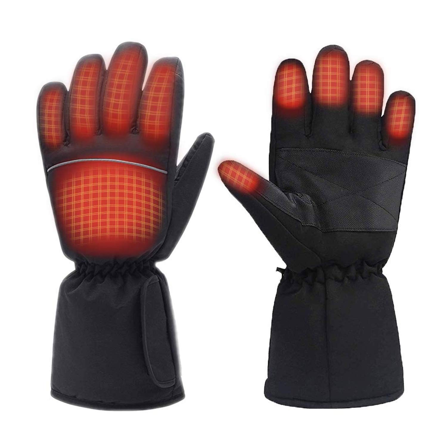 M.Jone Heated Gloves, Battery Powered Electric Heat Gloves for Women and Men, Waterproof Winter Thermal Gloves, Warm Touchscreen Gloves for Outdoor Sports Cycling Riding Skiing Skating Hiking Huntin. by M.Jone