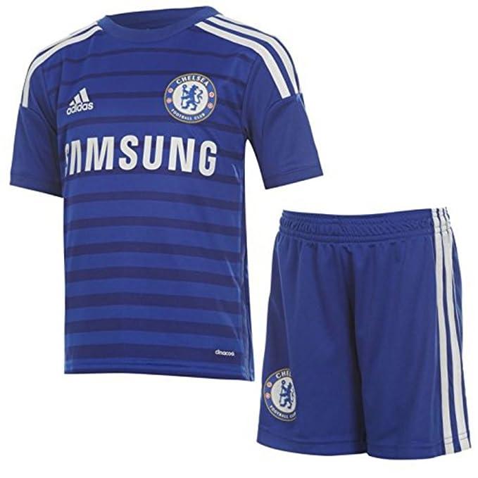 adidas Kids Chelsea Home 2014 2015 Mini Kit diseño de camiseta de fútbol en la parte