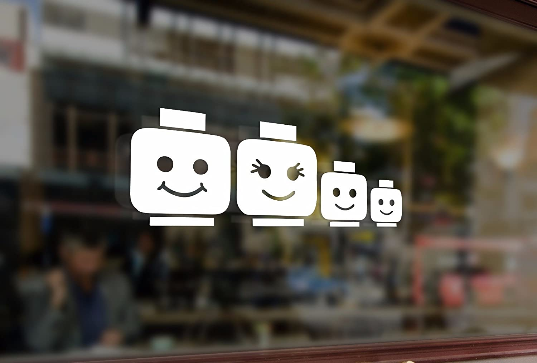 25cm LEGO Family Stick Figure Dad Mom Children Vinyl Stickers Vinyl Stickers Funny Decals Bumper Car Auto Computer Laptop Wall Window Glass Skateboard Snowboard Bananasticker
