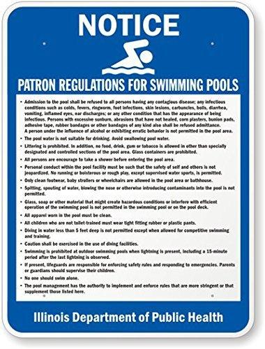 - Illinois Pool Rules Sign, 18
