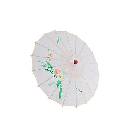 Shoze - Paraguas oriental de bambú japonés chino de 80 cm de diámetro, diseño floral