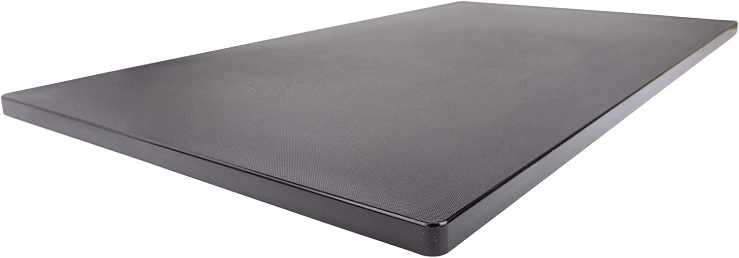 """Extra Long Black Poly Cutting Board, 30 x 18 Inch, 3/4"""" Thick, Food Service NSF"""