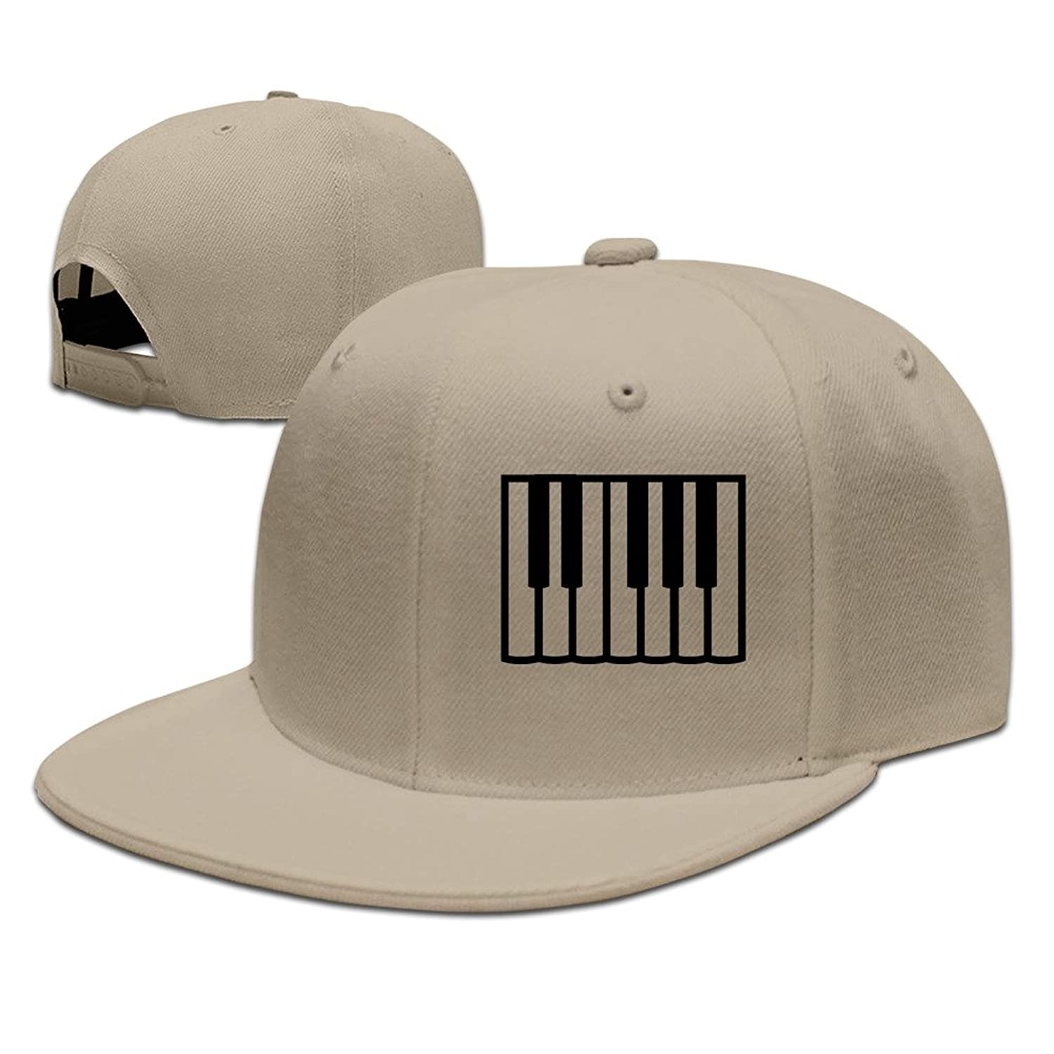 Custom Unisex Adjustable Fashion Piano Snapback Flat Caps One Size
