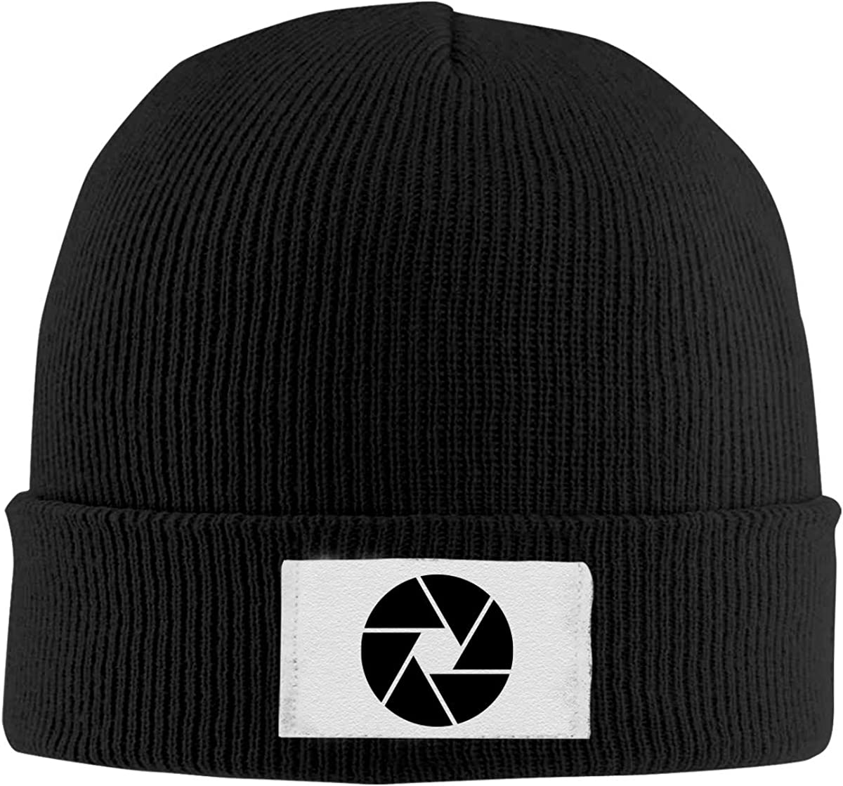 Stretchy Cuff Beanie Hat Black Dunpaiaa Skull Caps Camera Aperture Shutter Photography Winter Warm Knit Hats
