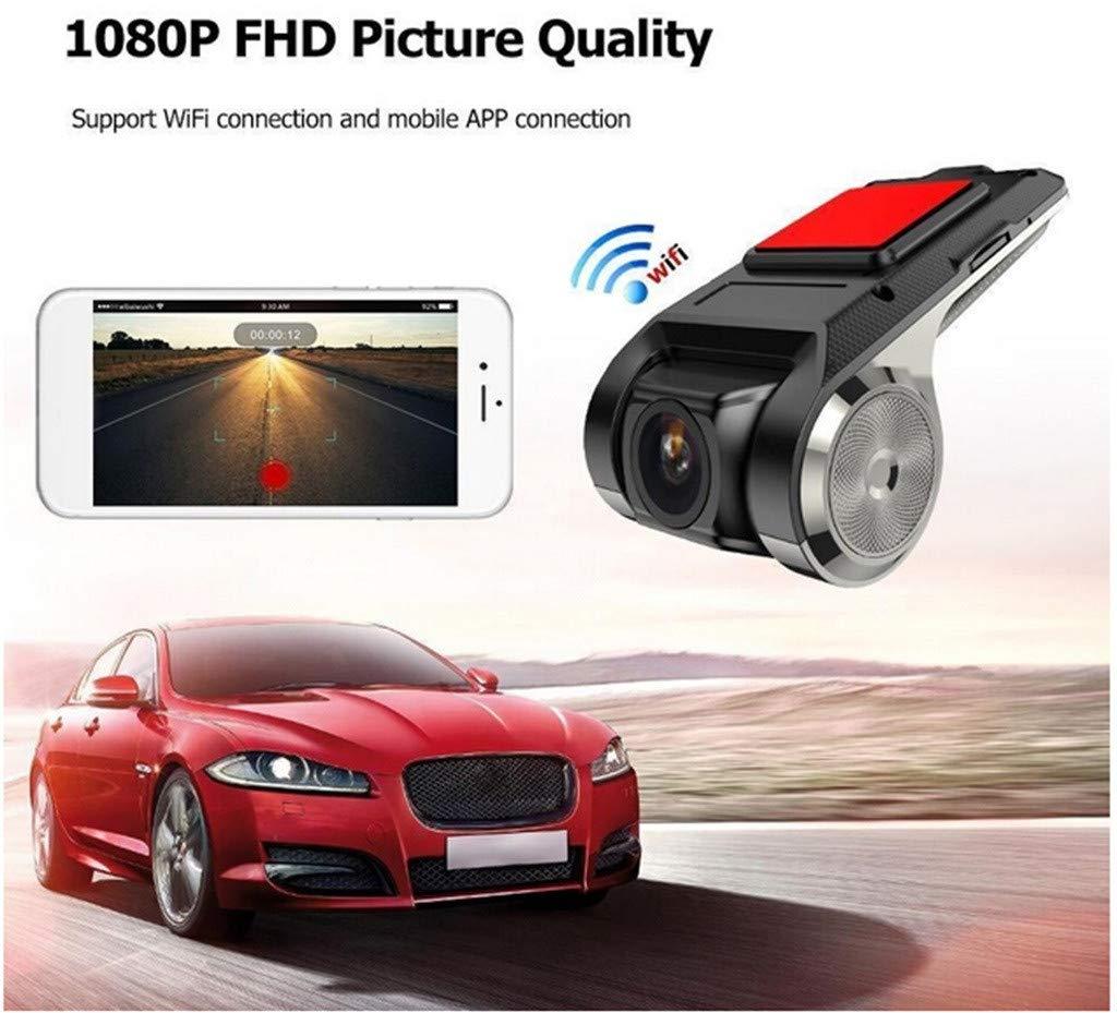 Registrador De Conducci/ón Oculta USB Alarma Electr/ónica DVR Negro LQQSTORE C/áMara del Coche HD X28 Dash CAM 1080P FHD Grabador De C/áMara DVR para Coche WiFi ADAS G-Sensor