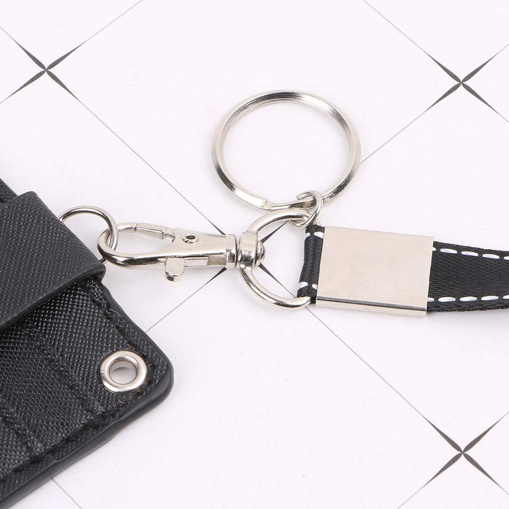 SimpleLif Office Work School ID Card Badge Holder Coin Wallet Purse with Keyring Rope Layards Neck Strap
