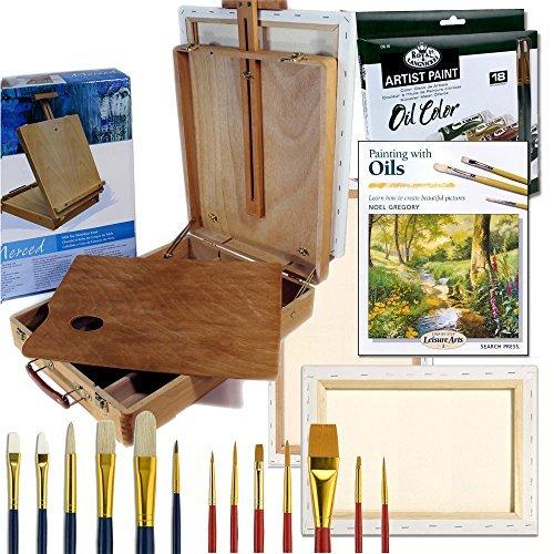 Oil Painting Art Set Complete Artist Quality Hard Wood