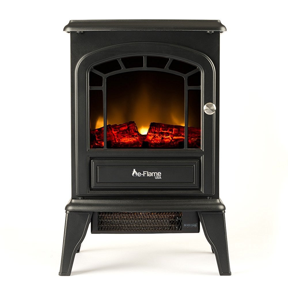 e-Flame USA Aspen Free Standing Electric Fireplace (Black)