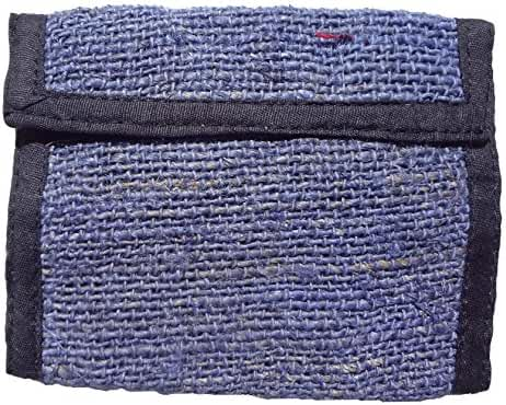 Hippie Hemp Trifold Wallet Handmade in Nepal Fair Trade Natural Color By Ragged Ends