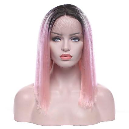 Peluca de encaje delantero Boba Ombre pelucas sintéticas para mujer sexy moda peluca completa fiesta natural