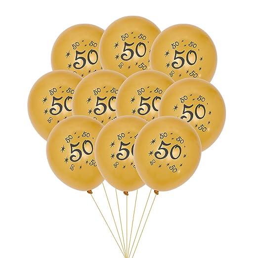 NUOBESTY 50 globos de látex para decoración de fiesta de 50 ...
