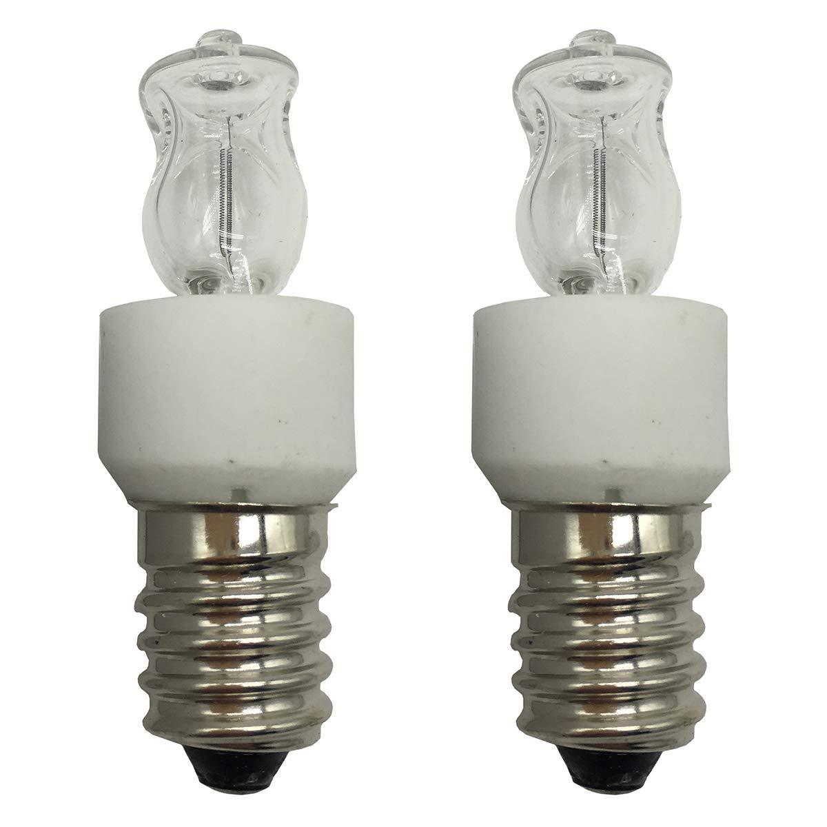 Mises 120V 110V~130V E14 25W Halogen Bulb Oven Refrigerator Light Bulb Oven Bulb Oils Burner Bulb Candle Oil Wax Warmer Bulb Appliance Bulb (2 Pack)