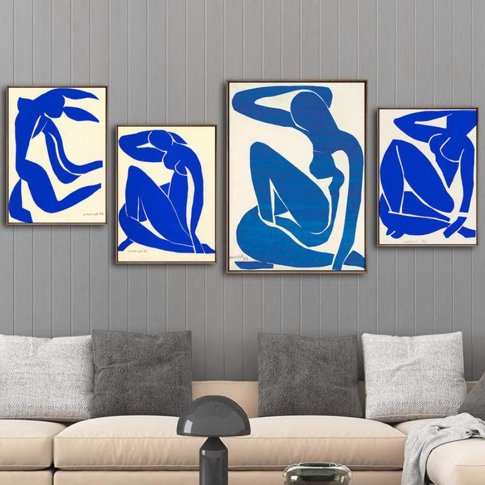 deportes calientes QIAISHI QIAISHI QIAISHI Decoración del hogar Impresión en Lienzo Arte de la Parojo Cuadros Impresiones en Lienzo Pinturas  Azul  oferta de tienda